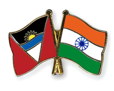 Freundschaftspins Antigua und Barbuda-Indien
