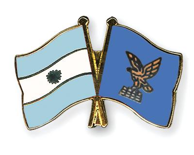 Freundschaftspins Argentinien-Friaul-Julisch-Venetien