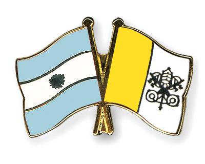 Freundschaftspins Argentinien-Vatikanstadt