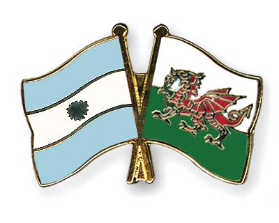 Freundschaftspins Argentinien-Wales