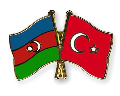 Freundschaftspins Aserbaidschan-Tuerkei
