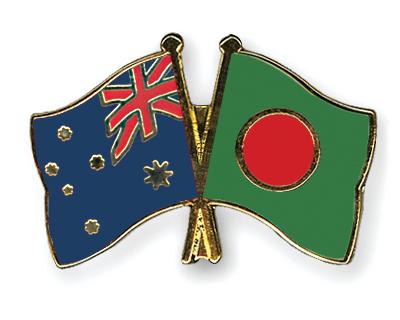 Freundschaftspins Australien-Bangladesch
