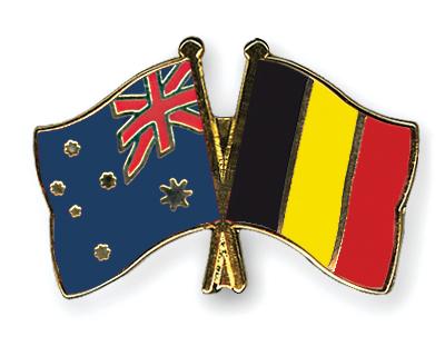 Freundschaftspins Australien-Belgien