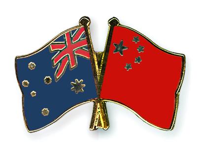 Freundschaftspins Australien-China