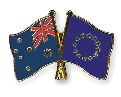 Freundschaftspins Australien-Europa