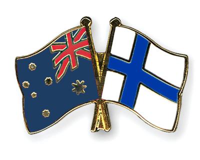 Freundschaftspins Australien-Finnland