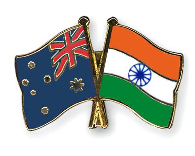 Freundschaftspins Australien-Indien