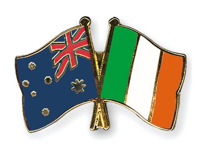 Freundschaftspins Australien-Irland
