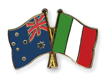 Freundschaftspins Australien-Italien