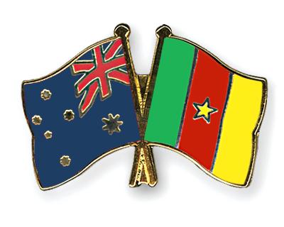 Freundschaftspins Australien-Kamerun