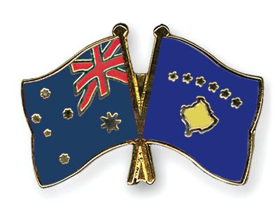 Freundschaftspins Australien-Kosovo