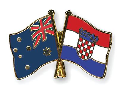 Freundschaftspins Australien-Kroatien