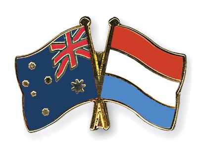 Freundschaftspins Australien-Luxemburg
