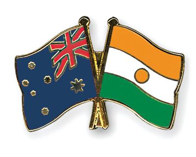 Freundschaftspins Australien-Niger