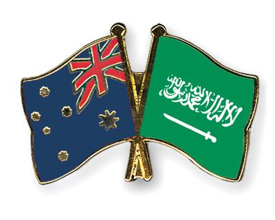 Freundschaftspins Australien-Saudi-Arabien