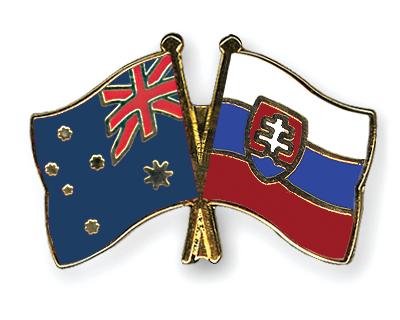 Freundschaftspins Australien-Slowakei