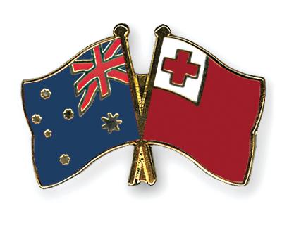 Freundschaftspins Australien-Tonga