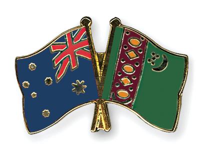 Freundschaftspins Australien-Turkmenistan