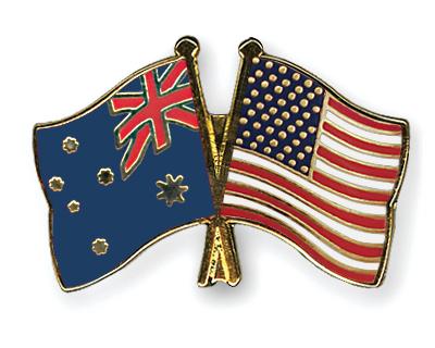 Freundschaftspins Australien-USA