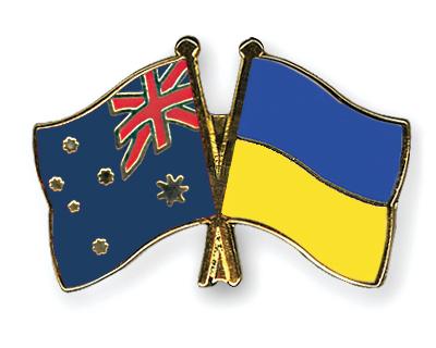 Freundschaftspins Australien-Ukraine