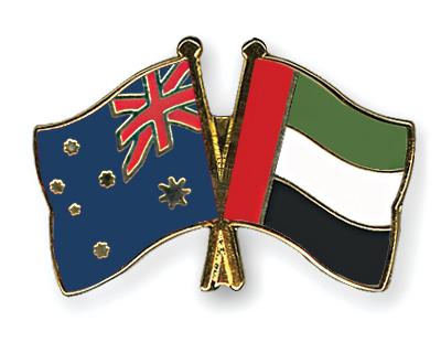 Freundschaftspins Australien-Ver-Arab-Emirate