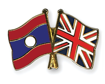 Freundschaftspins Laos-Gro�britannien