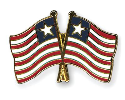 Freundschaftspins Liberia-Liberia