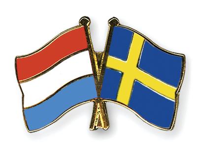 Freundschaftspins Luxemburg-Schweden
