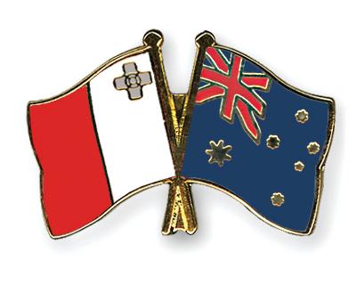 Freundschaftspins Malta-Australien