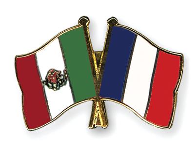 Freundschaftspins Mexiko-Frankreich