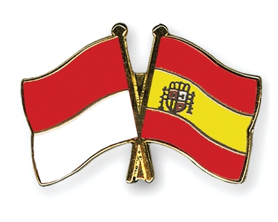 Freundschaftspins Monaco-Spanien